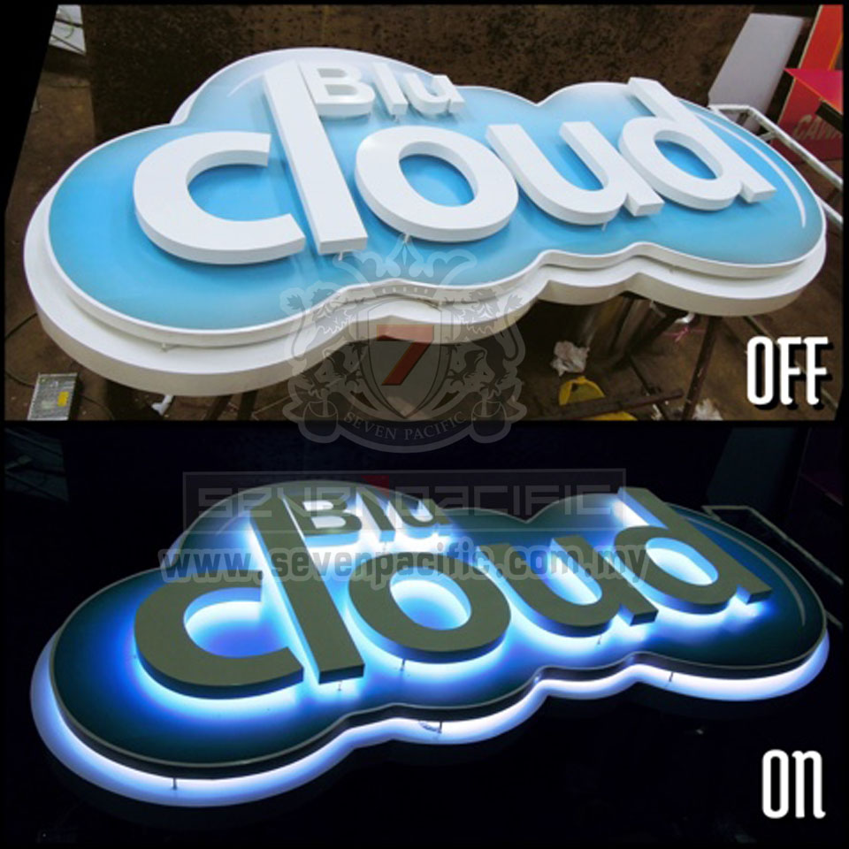 2 layers 3D LED Sign_ vapor