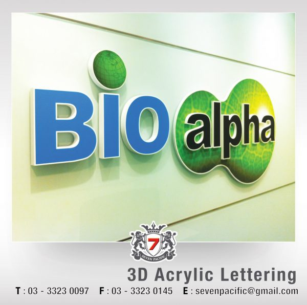 3D Acrylic Lettering 02