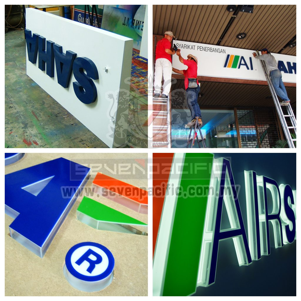 3D Box Up & Acrylic Sign