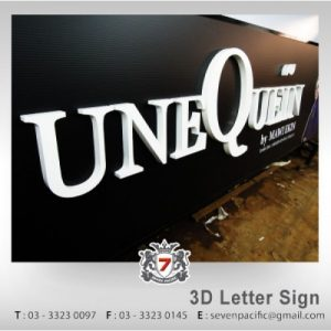 3D Box Up Letters Sign