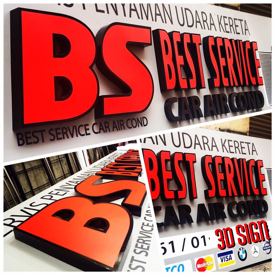 3D Box Up Sign _ Car Service