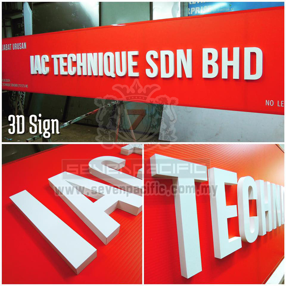 3D Box Up Sign _ Puchong