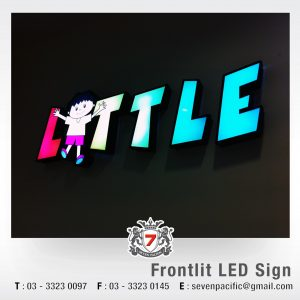 3D Frontlit LED Sign