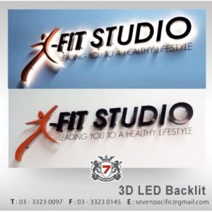 3D LED Backlit Fitness Sign