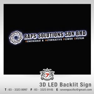 3D LED Backlit Sign