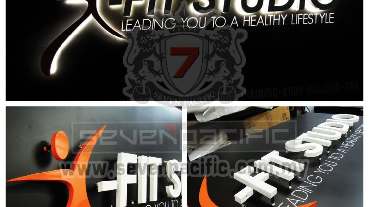 3D LED Backlit Sign _ Fitness_Gym