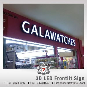 3D LED Frontlit Sign 02