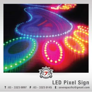 3D LED Pixel Sign