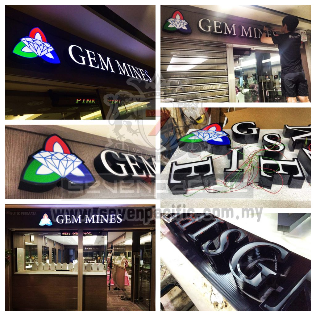 3D LED Sign _ Gem