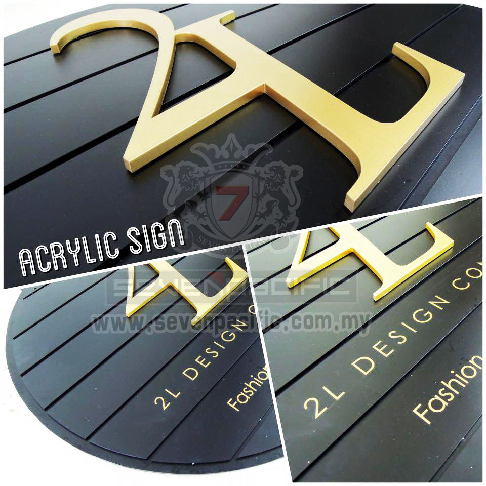 3D Laser cut out Sign_ butik