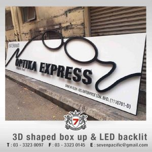3D Shaped Box Up LED Sign