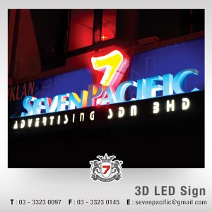 Company 3D LED Sign