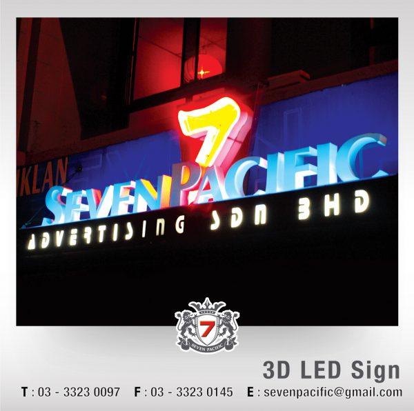 Company 3D LED Sign