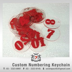 Custom Numbering Keychain