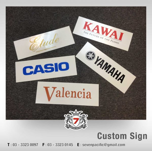 Custom Plastic Sign