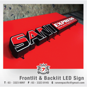 Frontlit & Backlit LED Sign