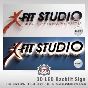 Indoor 3D LED Backlit Sign