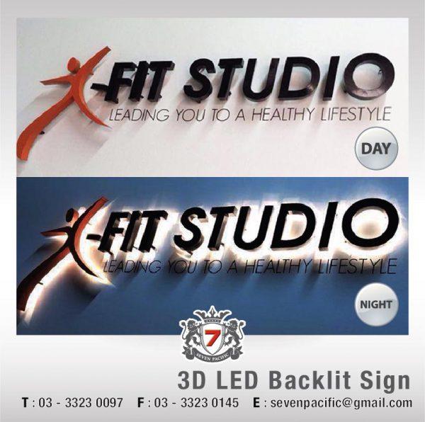 Indoor 3D LED Backlit Sign