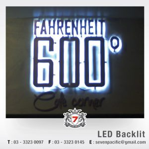 Indoor LED Backlit