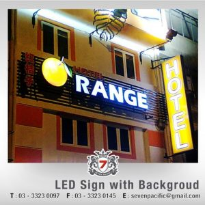 LED Sign With Background