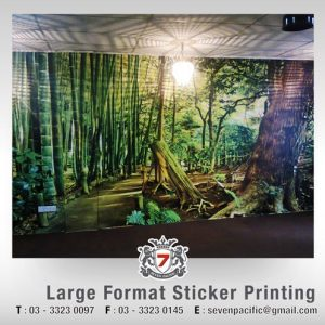 Large Format Sticker Printing