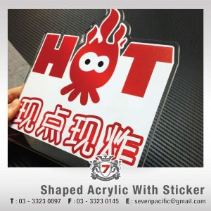 Laser Acrylic With Sticker
