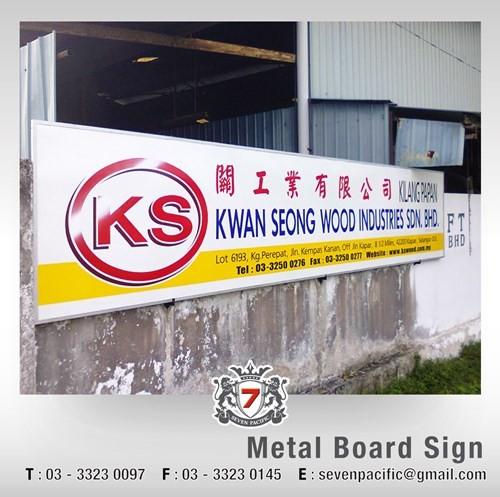 Metal Board Sign