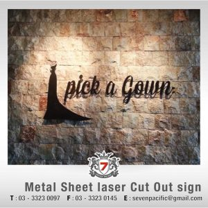 Metal Laser Cut Out Sign