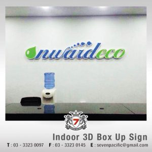 Reception 3D Box Up Sign