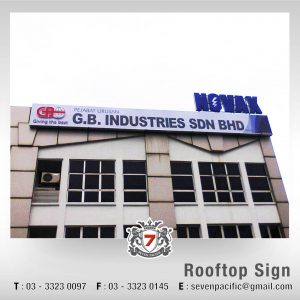 Rooftop 3D Sign