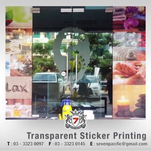 Transparent Sticker Printing