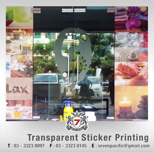 Transparent Sticker Printing