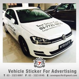 Vehicle Sticker for Advertising